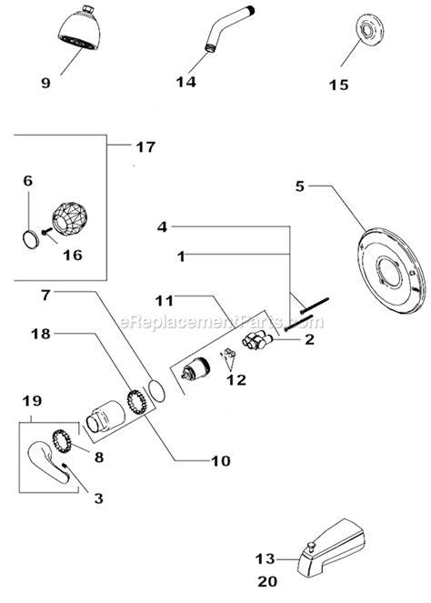 Pegasus Kitchen Faucet Replacement Parts by Delta Faucet 132900 Parts List And Diagram