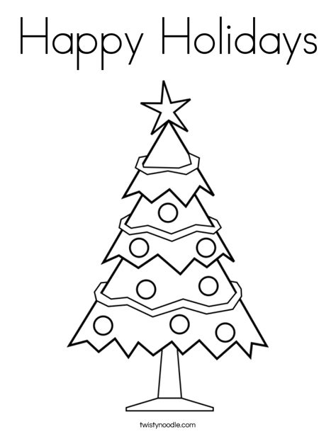 coloring pages holidays print happy holidays coloring page twisty noodle