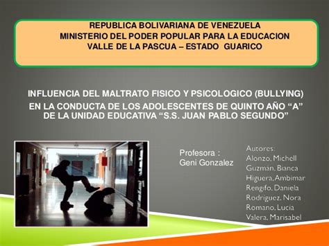 acoso escolar bullying slideshare el bullying o acoso escolar 2 nuevo autoguardado