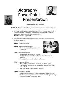 what is a biography and autobiography powerpoint biography powerpoint project student projects and