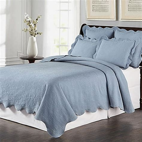 Buy Lyon Matelass 233 King Coverlet Set In Blue From Bed Bath
