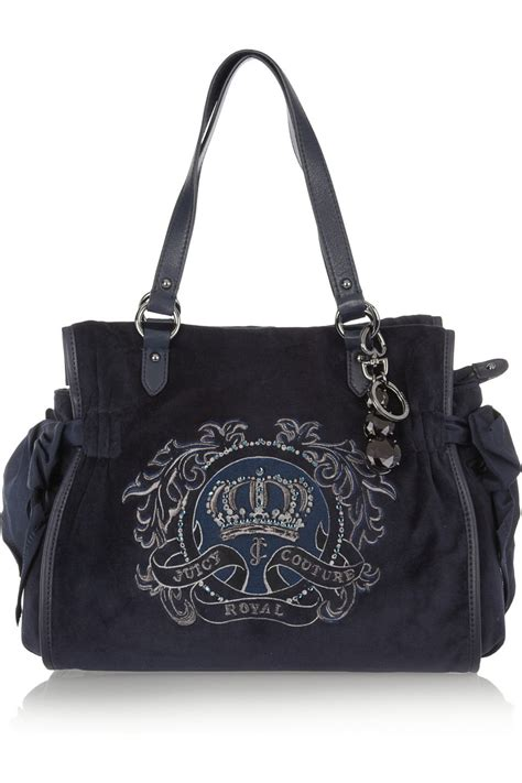 Couture Daydreamer Tote by Couture Ms Daydreamer Leather Trimmed Velour Tote In
