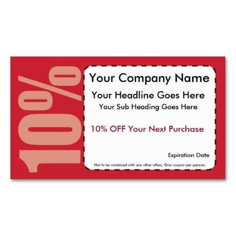 coupon card template 1135 best images about coupon card templates on