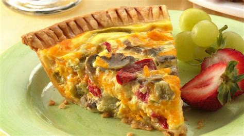 vegetables quiche vegetable cheddar quiche recipe from pillsbury