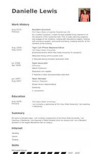 Sle Resume College Resident Assistant Resident Assistant Resume 28 Images Resident Assistant Resume Sales Assistant Lewesmr Cover