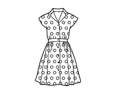 coloring page dress pinup dress coloring page coloringcrew com