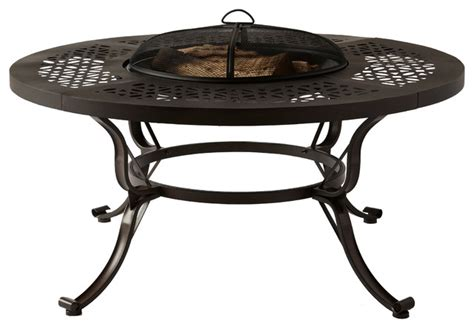 Outdoor Wood Burning Pit Tables lorraine 48 in outdoor wood burning pit table with wood grate traditional pits