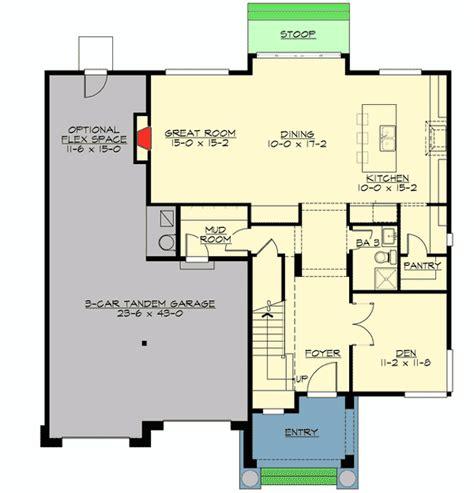 tandem garage plans house floor plans with tandem garage