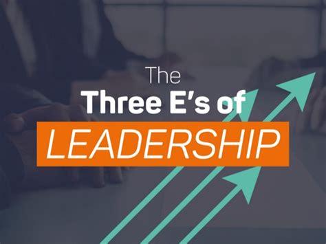 Leadership 3 In 1 M the three e s of leadership
