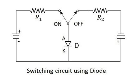 diode switching circuits electronic circuits diode as a switch