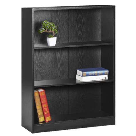 2 shelf bookcase black austin 3 shelf bookcase black officeworks