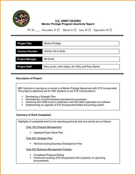business report format template business report exles 47886664 png letterhead