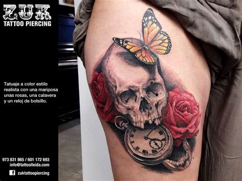 tatuajes de calaveras y rosas 1000 images about zuk tattoo piercing lleida on pinterest