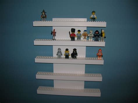 lego mini figure display shelf 5 row