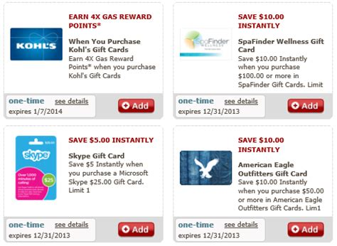 Safeway Gift Card Deals - safeway save 15 on select multipack gift cards plus just for u gift card offers