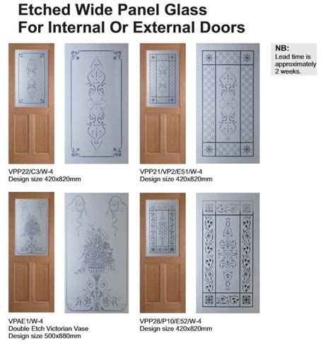 Pitch Pine Interior Doors Amin Acid Etched Glass