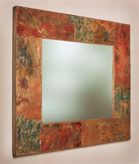 Bathroom Powder Room Ideas Really Cool Copper Framed Mirror For Copper Vanity Powder