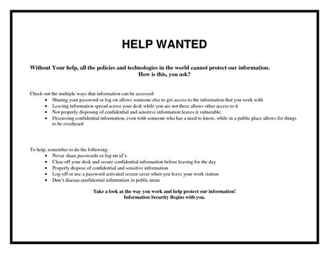 5 best images of help wanted flyer template blank wanted