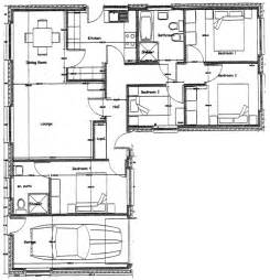 Four Bedroom Bungalow Floor Plan by Two Bedroom Cottage 2 Bedroom Bungalow Floor Plan 4