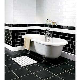 Wickes Bevelled Edge Black Gloss Ceramic Wall Tile