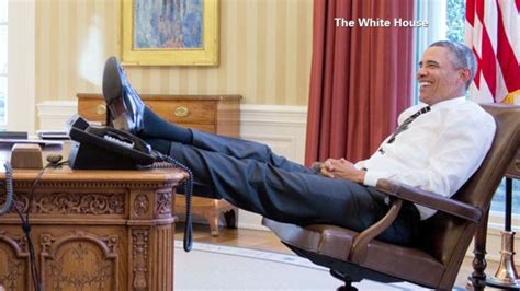 obama at desk justoneminute the shark must look like a minnow from up there