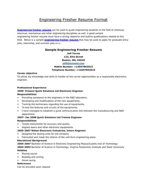 25 best ideas about resume format on sle resume format free resume