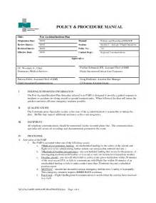 Policy And Procedure Manual Template by Best Photos Of Policies And Procedures Manual Template