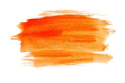 orange watercolour stock photo image of white paint 10165284