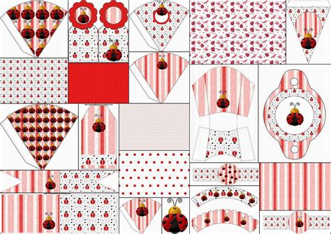 free printable ladybug birthday decorations ladybugs free party printables images and backgrounds