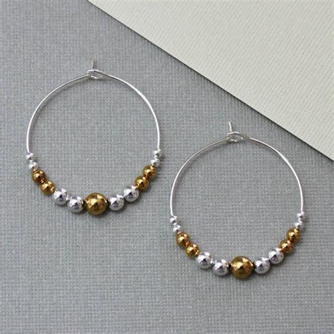 beaded hoop earrings by completely charmed