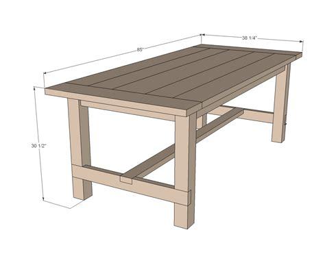 ana white farmhouse table updated pocket hole plans