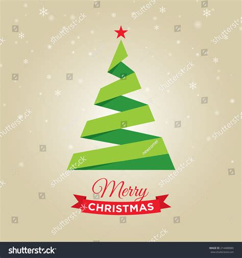 christmas cards shutterstock merry card graphic tree stock vector 214488880