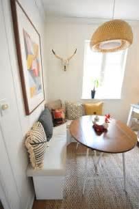 diy breakfast nook with white desert modern decor