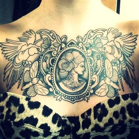 chest tattoo cameo neck cameo tattoos google search tattoo pinterest