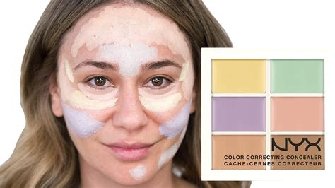 how to color correct how to use the nyx color correcting palette get a