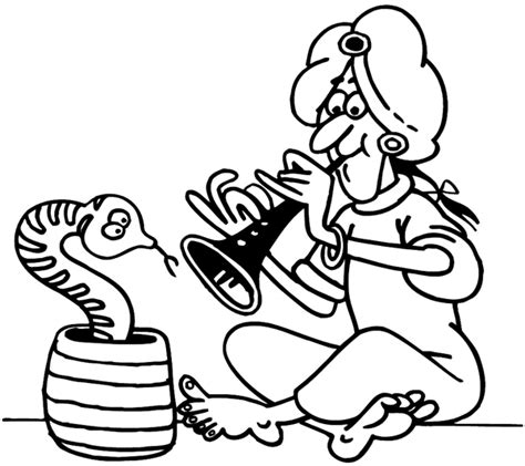snake charmer coloring page signspecialist com beevault decals snake charmer with