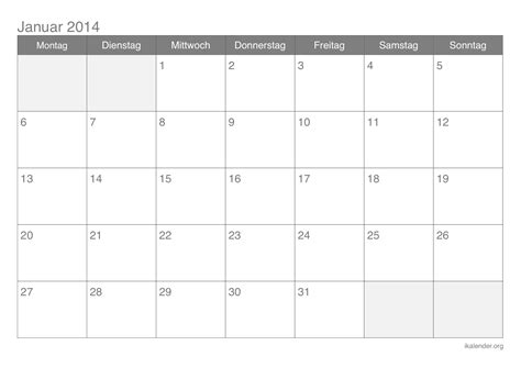Kalender 2014 Zum Ausdrucken Kalender Januar 2014 Zum Ausdrucken Ikalender Org