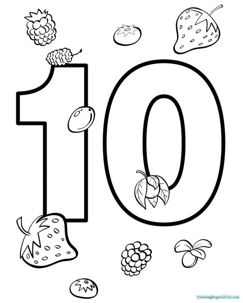 coloring pages of the number 10 the number 10 coloring page coloring pages for kids