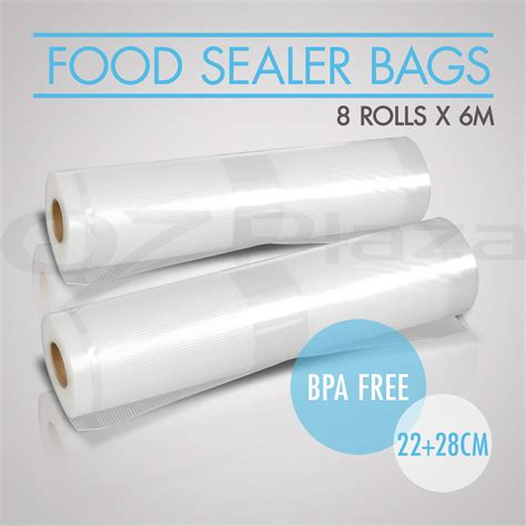 vacuum food sealer bags rolls saver storage commercial