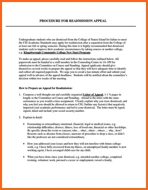 college appeal letter tips writing an appeal letter for college admission sletemplatess