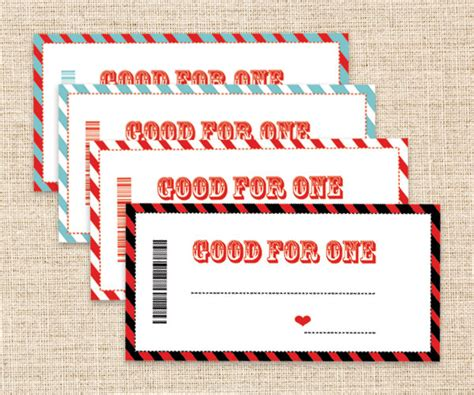 anniversary coupon template printable coupons s day gift blank coupons