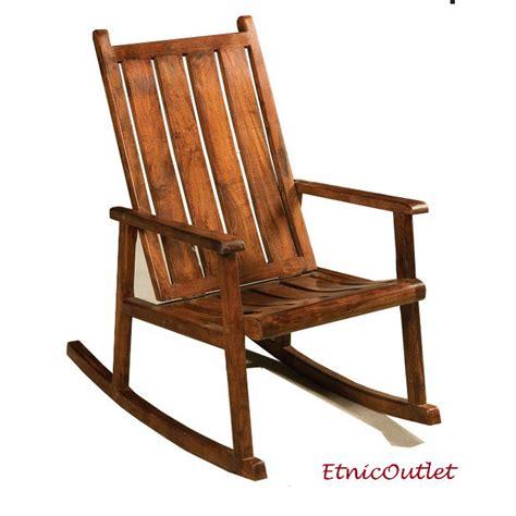 sedia a dondolo legno sedia dondolo in legno massello etnico outlet mobili etnici