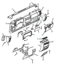 1997 Jeep Wrangler Parts Diagram Tj Wrangler Dash Parts 4 Wheel Drive