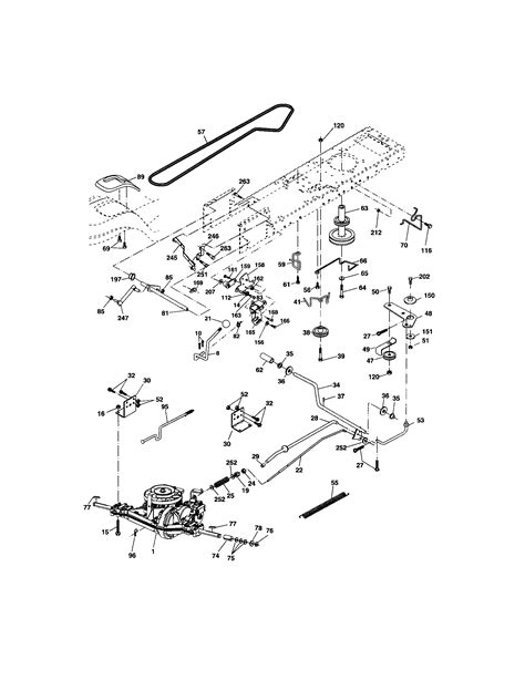 craftsman dlt 3000 lawn mower parts diagram craftsman