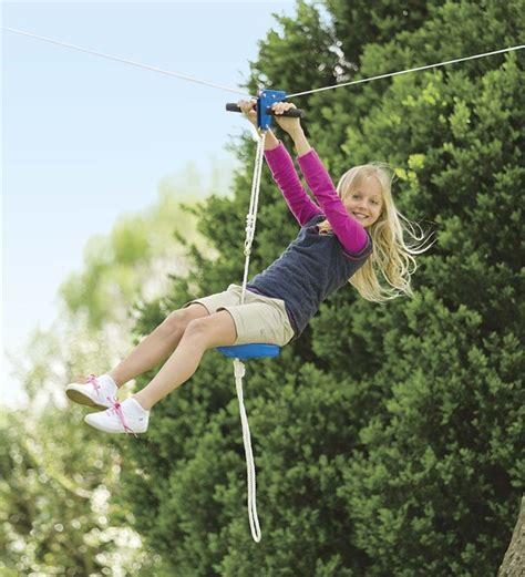 zip line kits for backyard kids zip line seat kit 70 zip line kits hearthsong
