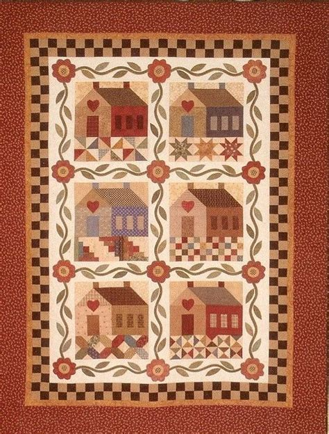 Cottage Patchwork - patchwork cottage quilts