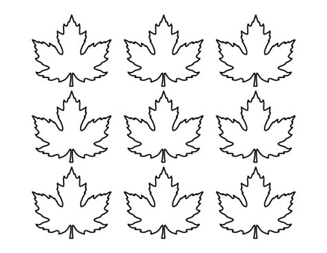 leaf pattern craft printable small maple leaf pattern use the pattern for