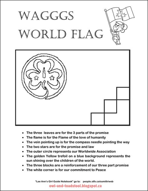 wagggs world flag colouring page world thinking day
