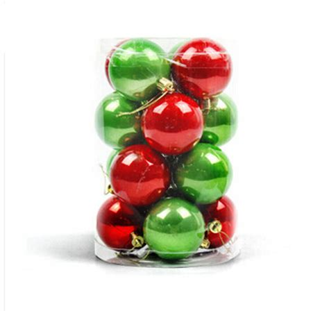 16pc 6 4cm christmas trees xmas hanging balls bauble party