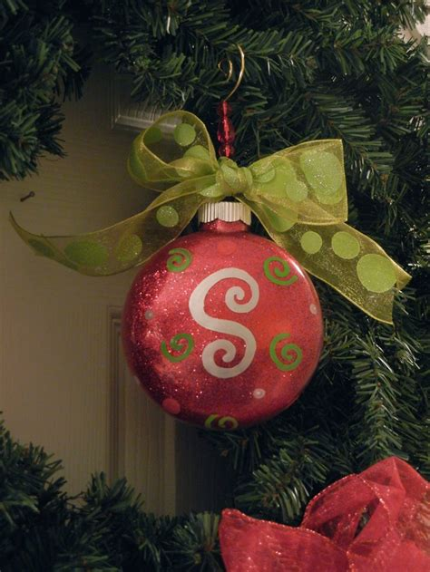 personalized initial christmas ornament